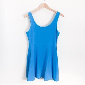Express Bright Blue Fit & Flare Dress